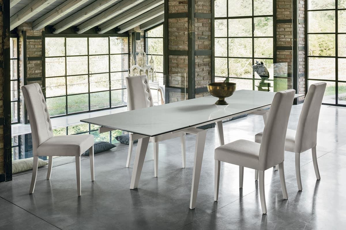 Elegante tavolo allungabile per soggiorno   IDFdesign