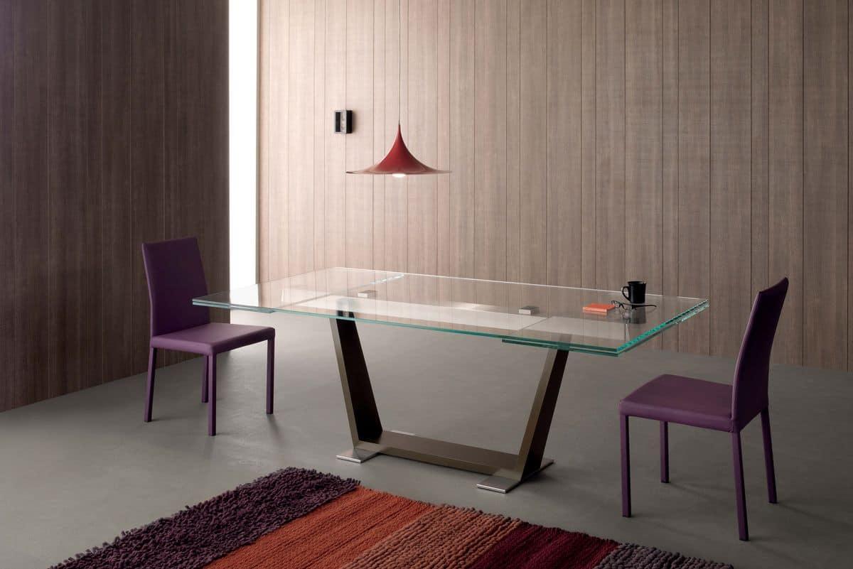 Tavolo allungabile moderno rettangolare per sala pranzo for Tavoli da sala da pranzo moderni