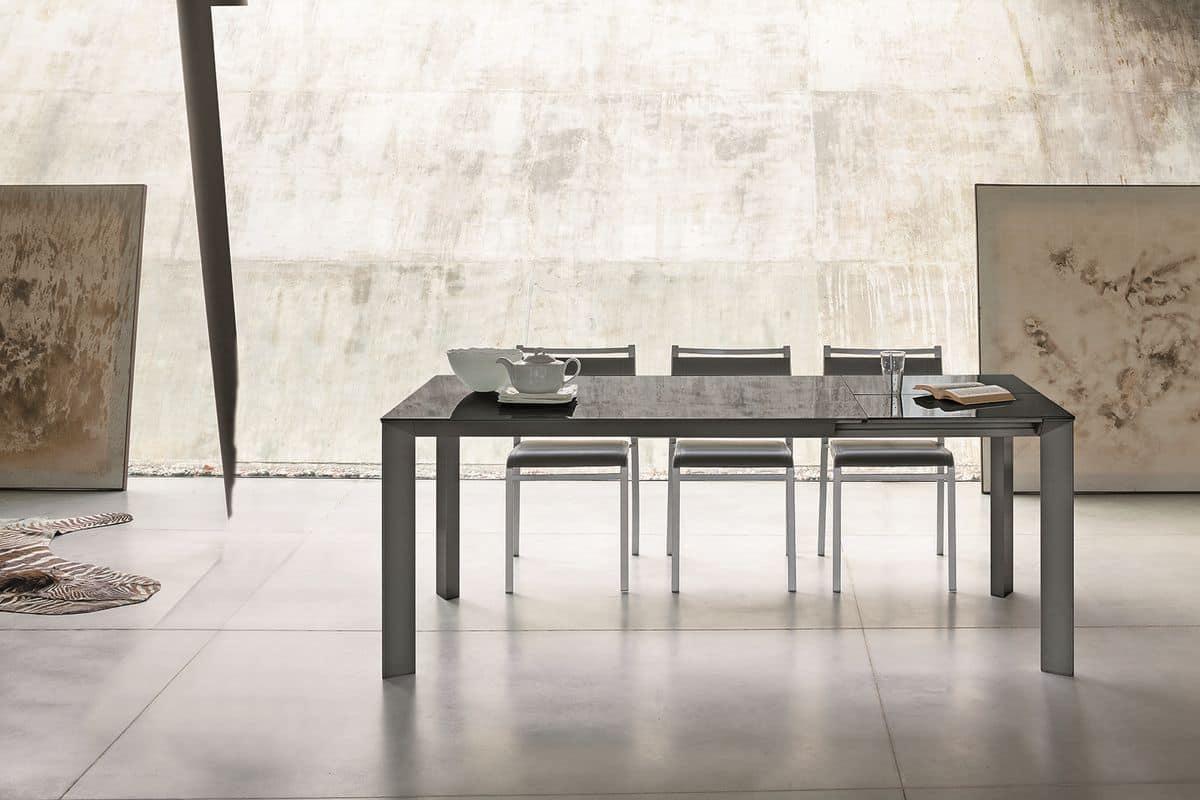Tavolo rettangolare moderno adatto per sala da pranzo for Tavoli allungabili moderni