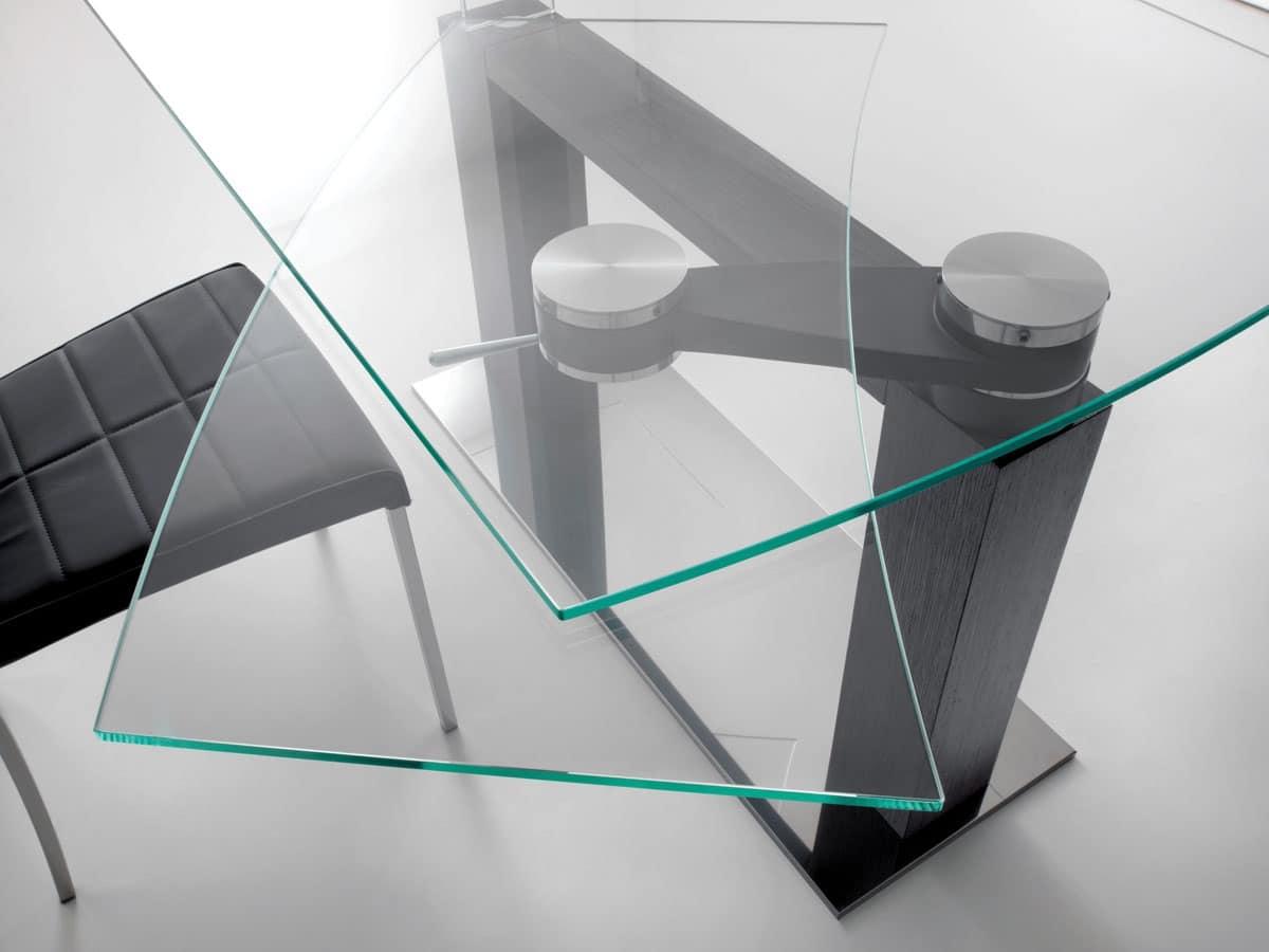 Categorie Tavoli Tavoli Allungabili Moderni Metallo Vetro Squadrati #085B4F 1200 900 Tavoli Da Pranzo Moderni Economici