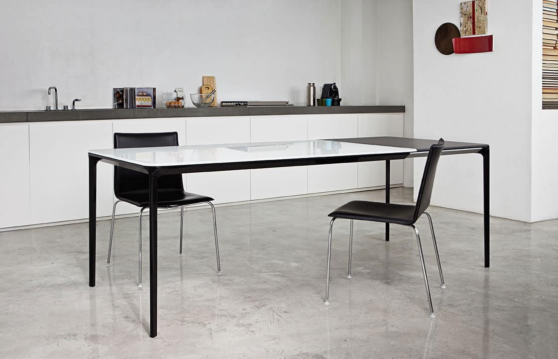Tavolo design da pranzo funzionale elegante essenziale - Tavoli pranzo allungabili design ...