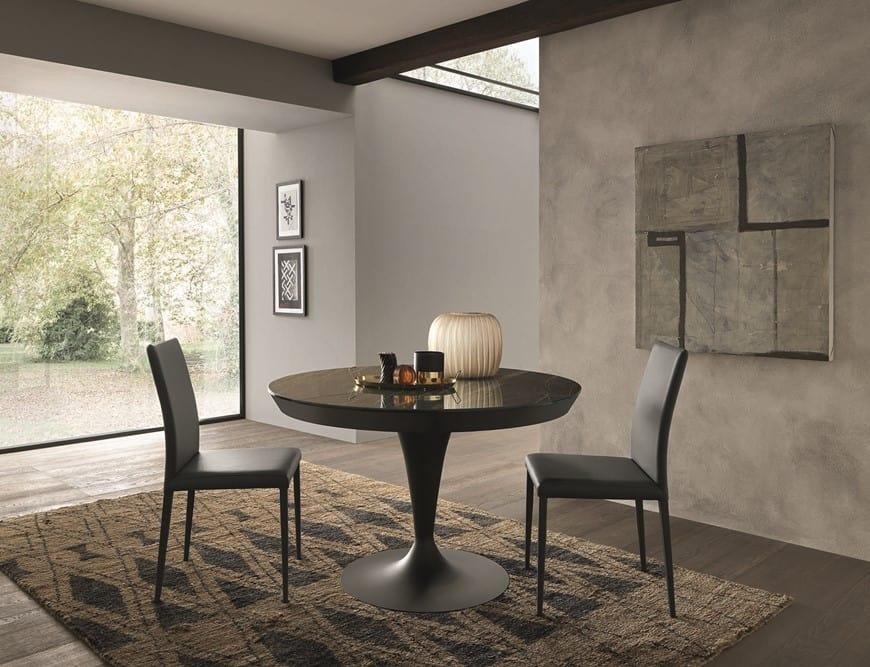 Tavolo Da Pranzo Rotondo : Tavolo da pranzo allungabile rotondo a forma di calice idfdesign