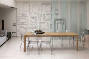 URANO 160 TA501, Tavolo rettangolare moderno ideale per cucina