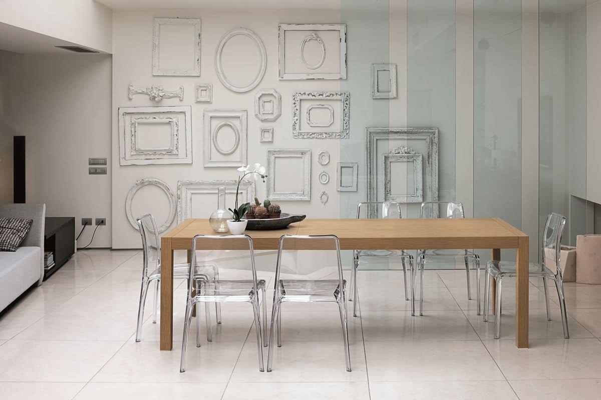 Tavolo rettangolare moderno ideale per cucina idfdesign for Tavolo cucina moderno allungabile