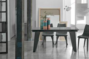 ZEUS 160 TA1A9, Tavolo allungabile per soggiorno moderno
