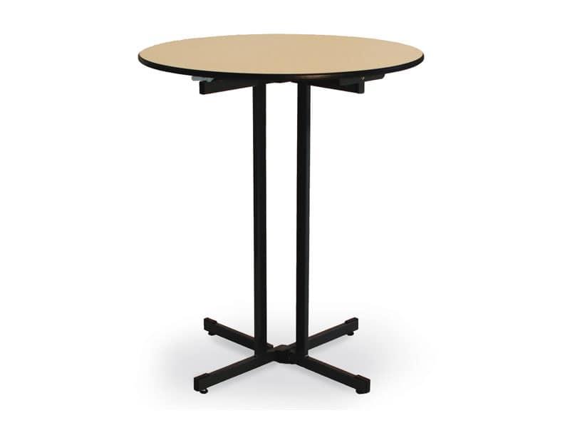 Tavolo pieghevole con piano in legno per catering idfdesign - Tavolo pieghevole in legno ...