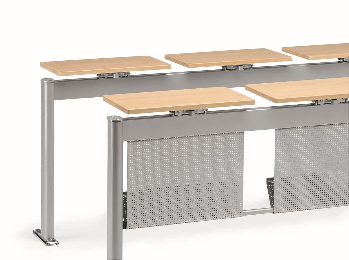 Tavolo modulare in metallo ideale per aule scolastiche for Piani d ufficio di 1200 piedi quadrati