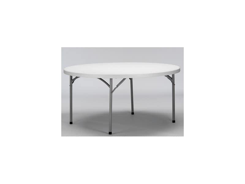 Tavoli Pieghevoli Plastica Per Catering.Tavolo Pieghevole Rotondo Piano In Polietilene Per Banchetti