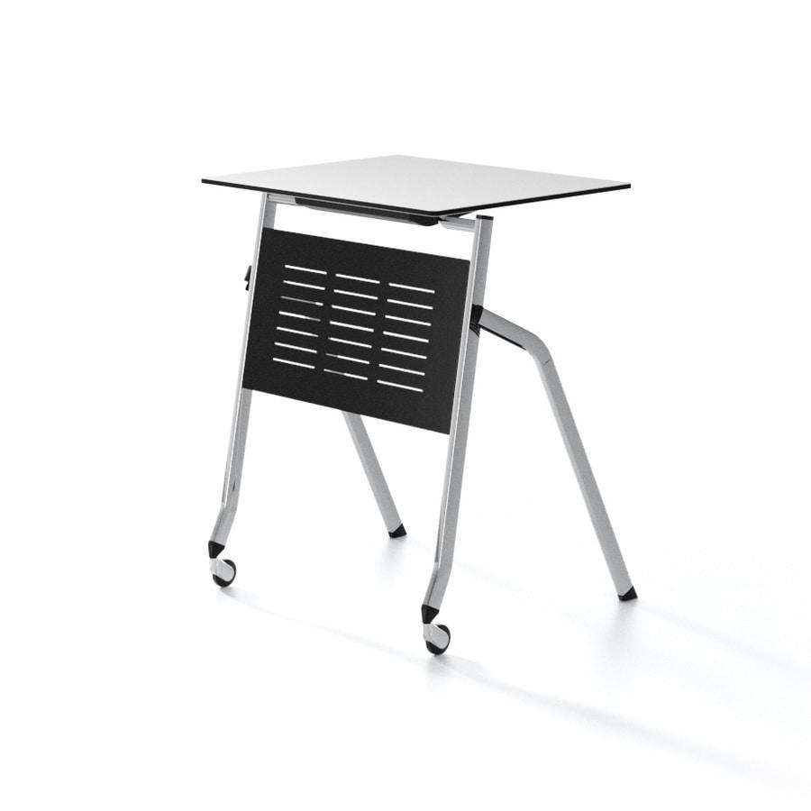 Tavolo con piano ribaltabile, impilabile orizzontalmente, per aule ...