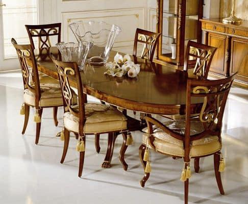 Tavoli classici di lusso 1011 - Tavolo consolle allungabile stile classico ...