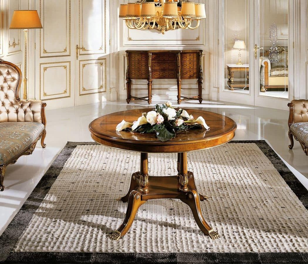 Tavoli Tavoli Classici Ed In Stile In Stile E Classici Di Lusso Tondi  #B67A15 1049 900 Mobili Bianchi Sala Da Pranzo