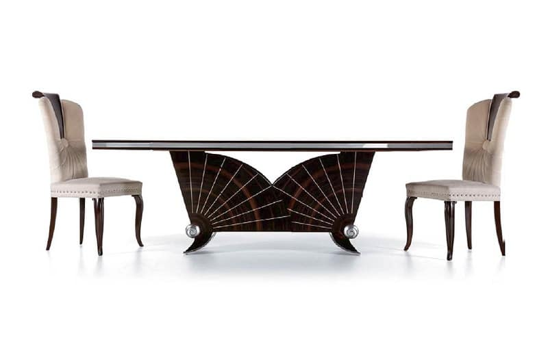 Tavolo da pranzo in ebano, per soggiorno di lusso  IDFdesign
