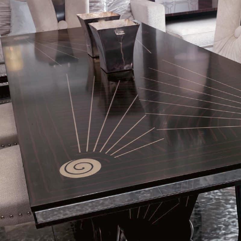 tavolo da pranzo in ebano, per soggiorno di lusso   idfdesign - Tavoli Soggiorno Di Lusso 2