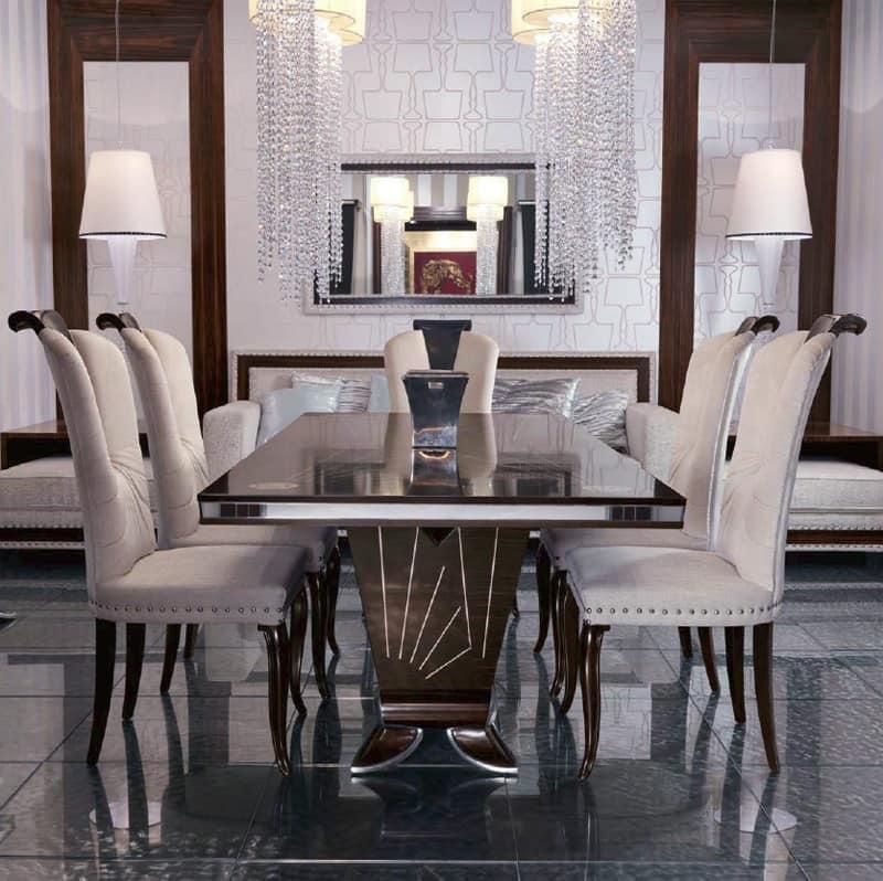 Tavolo da pranzo in ebano per soggiorno di lusso idfdesign for Tavoli per soggiorno