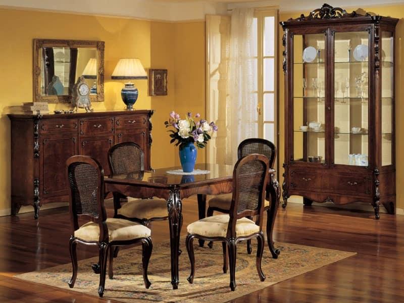 Tavolo allungabile rettangolare classico di lusso in for Tavoli classici