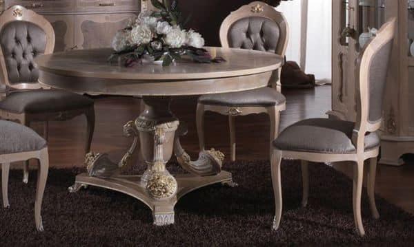 Tavoli classici di lusso 3640 tavolo - Tavoli da pranzo classici ...
