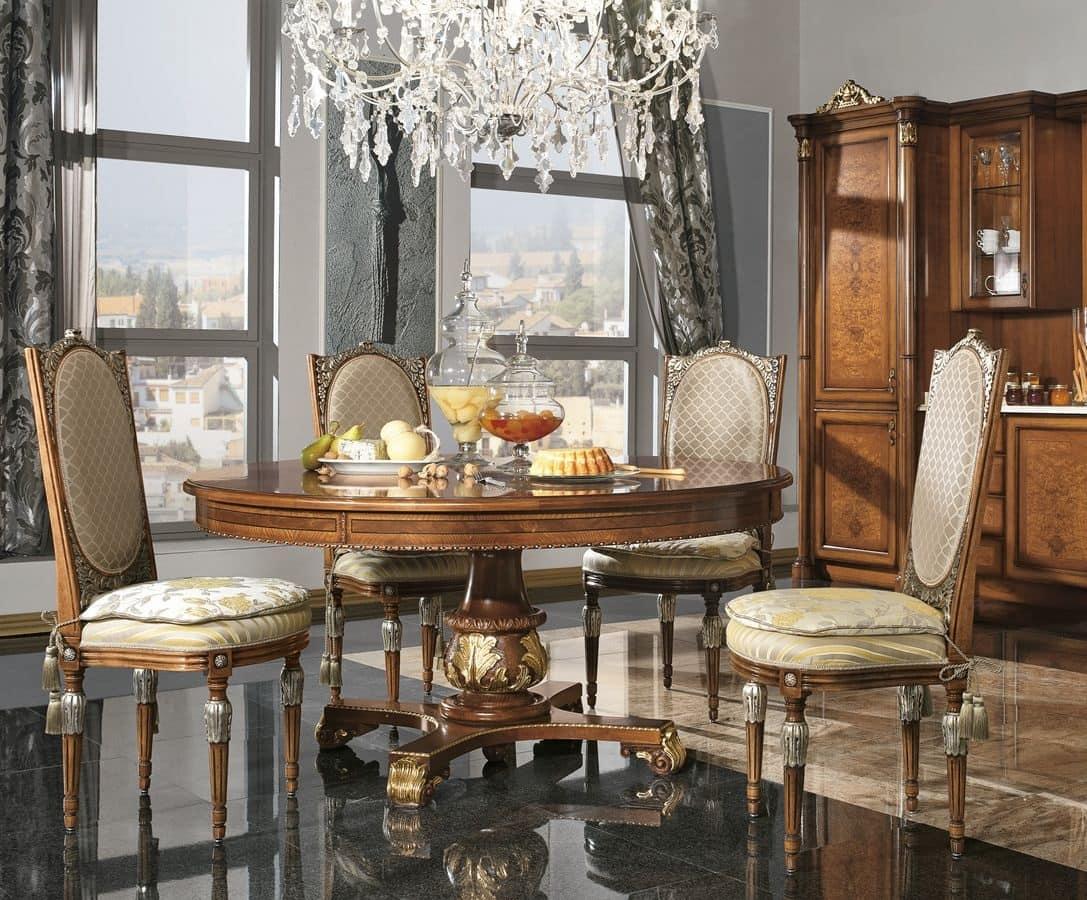 Tavolo Rotondo In Stile Classico Di Lusso Per Cucina IDFdesign #936338 1087 900 Sala Da Pranzo Stretta E Lunga