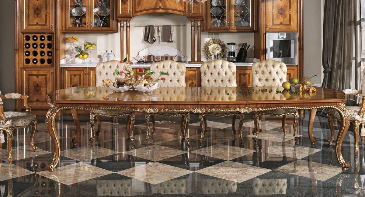 Tavolo rettangolare per la sale da pranzo classiche - Camere da pranzo classiche ...
