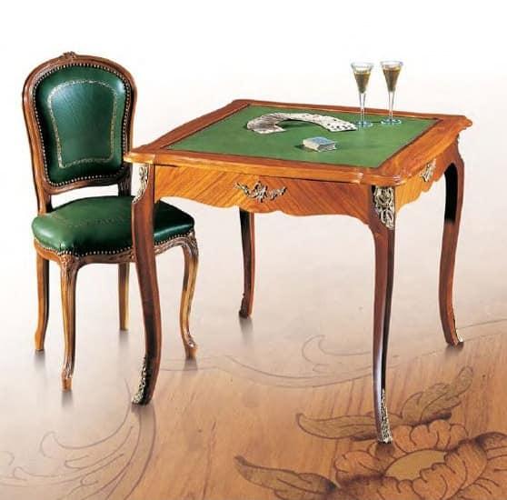 Tavolo da gioco classico di lusso in legno di rosa idfdesign - Tavoli da gioco carte pieghevoli ...