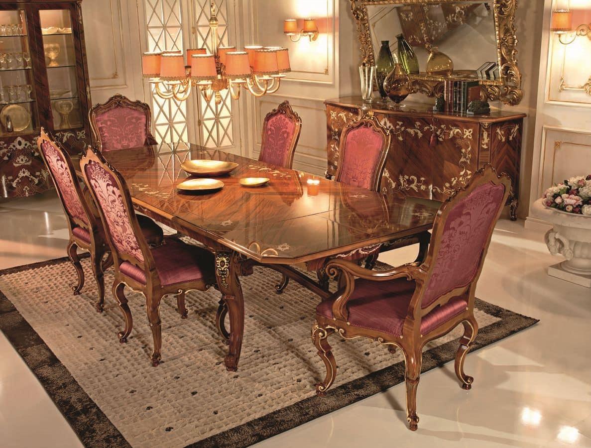 Di Tavolo Rettangolare Classico Di Lusso Per Sala Da Pranzo Tavolo  #C1730A 1187 900 Lampadario Classico Cucina
