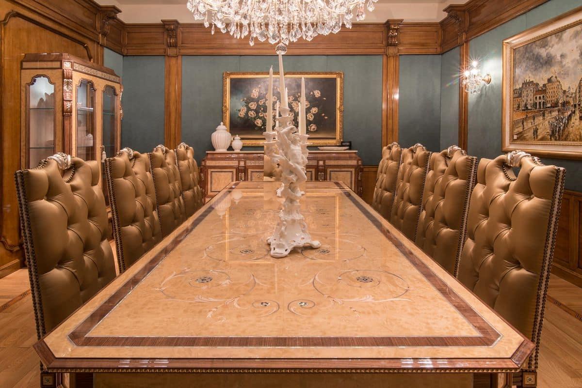 Tavolo rettangolare fisso per ambienti in stile classico for Immagini di tavoli