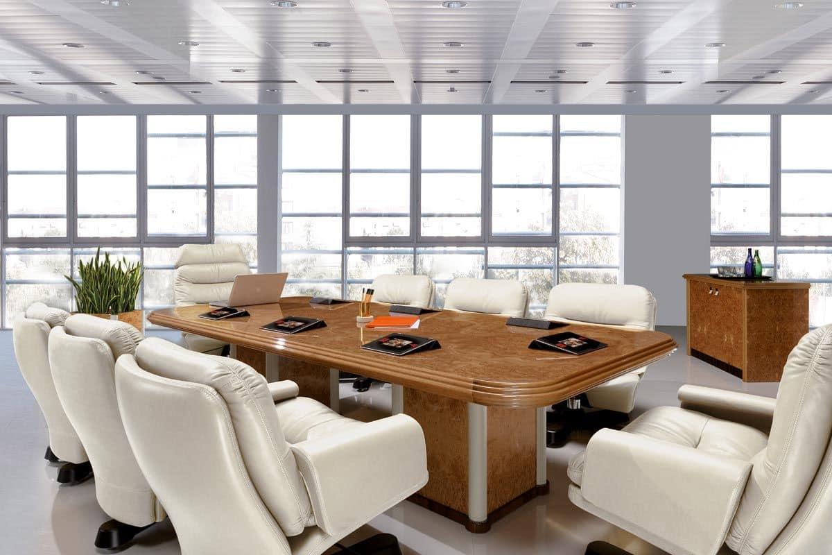 Tavolo per riunioni in radica in stile classico idfdesign for Immagini di tavoli