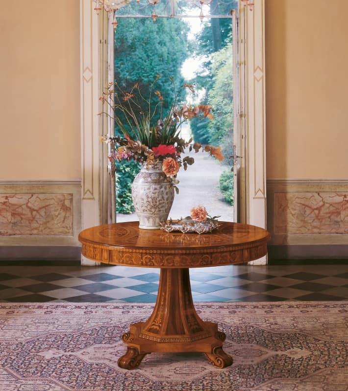 Tavolo tondo design classico per sale da pranzo di lusso for Tavolo tondo design