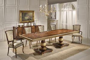 Art. 1268, Lussuoso tavolo con piano intarsiato