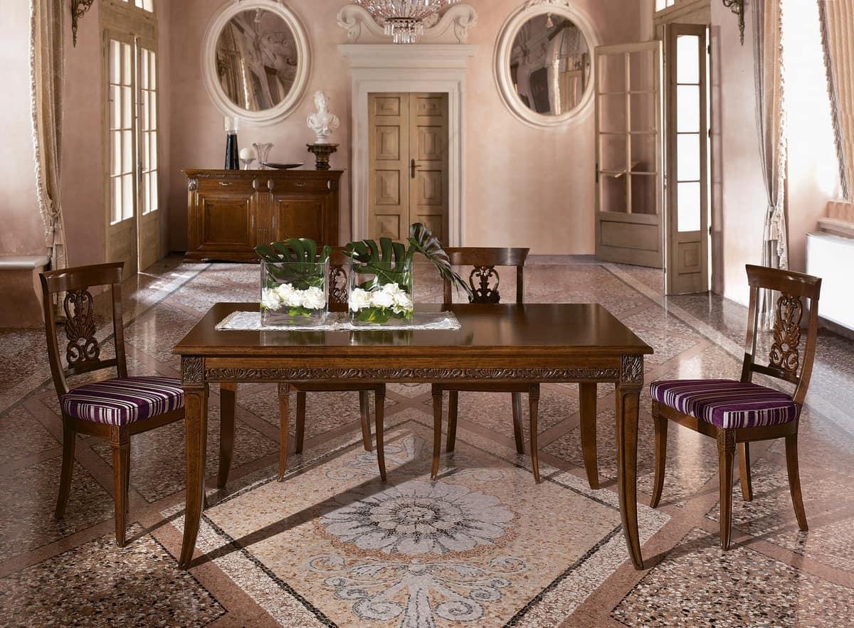 Tavolo allungabile in stile classico per sale da pranzo idfdesign - Tavolo allungabile classico ...