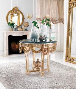 Art. 186, Tavolo con preziosi intagli, piano in marmo