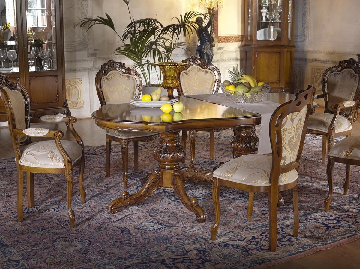Tavolo allungabile in stile classico, per sale da pranzo  IDFdesign