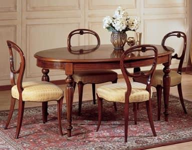 Tavolo classico legno lavorato art 281 tavolo ovale for Tavolo classico