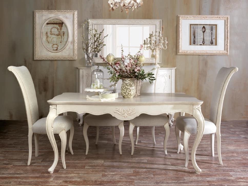 Tavoli Da Pranzo Classici : Classico tavolo da pranzo con intagli artigianali idfdesign
