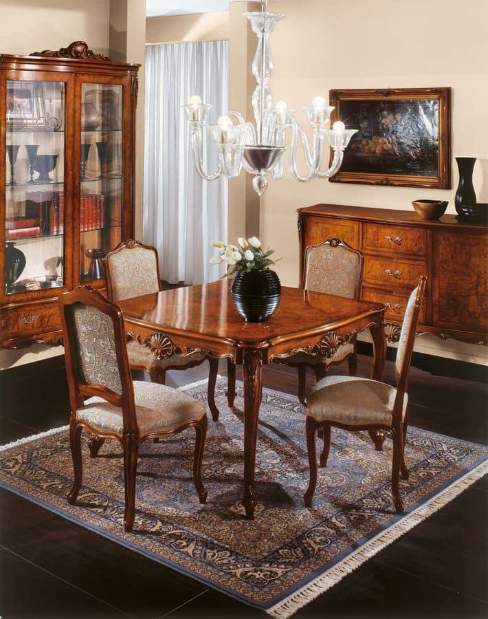 Tavolo allungabile in radica stile classico di lusso - Tavolo consolle allungabile stile classico ...