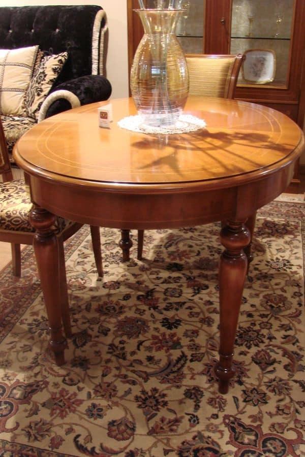 tavolo ovale classico per la cucina allungabile idfdesign