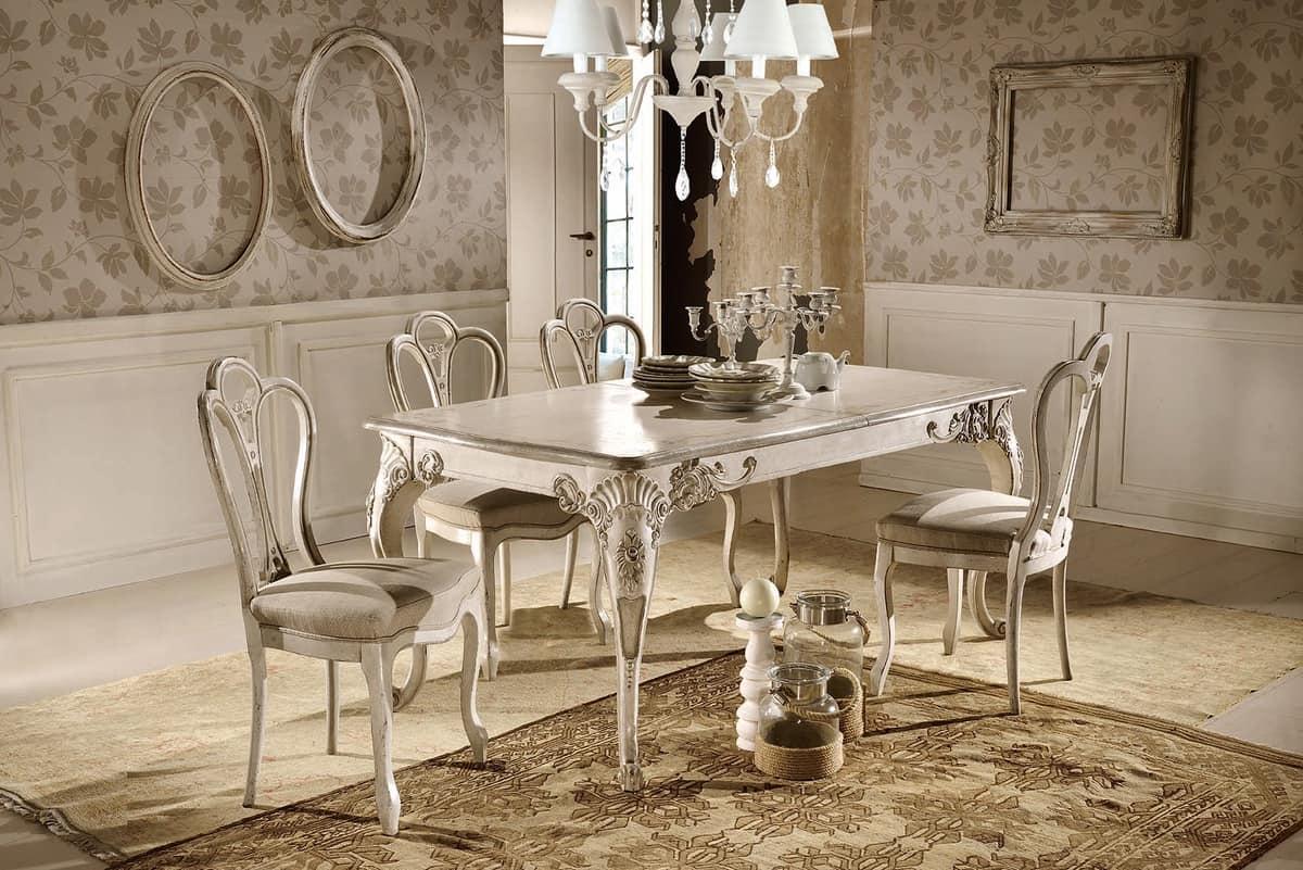 Tavolo rettangolare allungabile, laccato, classico | IDFdesign