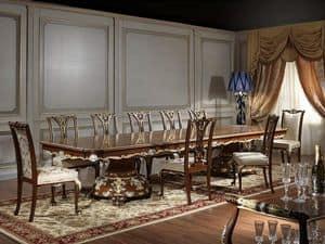 Art. 951/3 Tavolo Luigi XV, Maestoso tavolo, per sala da pranzo stile Luigi XV