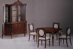 Atena tavolo, Tavolo in stile impero, intarsiato