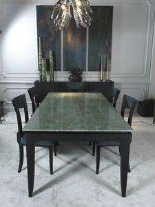 AURIGA Tavolo DELFI Collection, Tavolo da pranzo con piano in quarzo