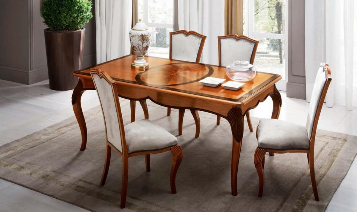 Tavolo rettangolare allungabile per salotti classici di - Tavoli da pranzo classici ...