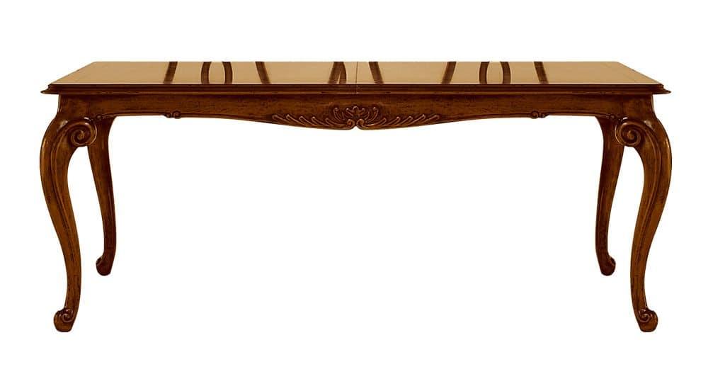 Tavolo in noce allungabile per sale da pranzo classiche - Tavoli classici in legno ...