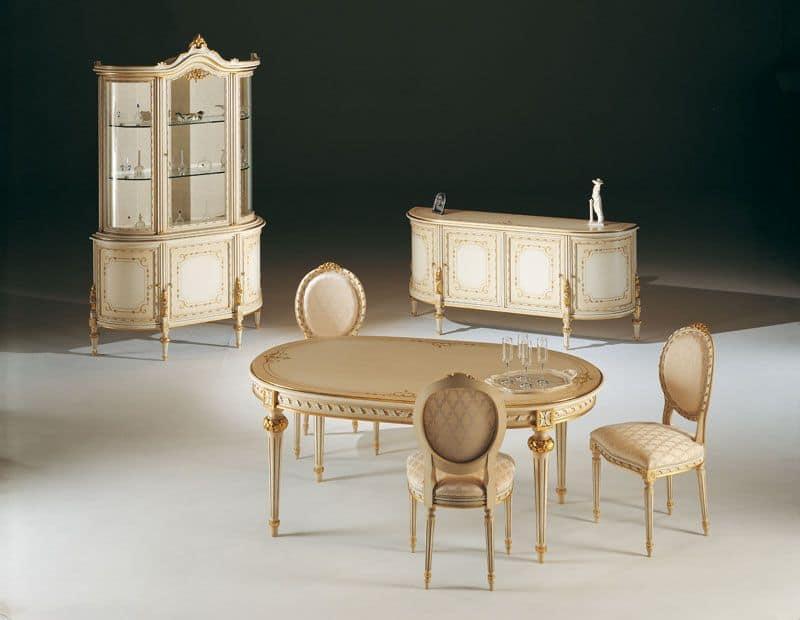 Sala da pranzo classica di lusso ideale per saloni di for Saloni di lusso