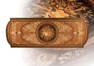 F500 Tavolo, Tavolo in legno massello intagliato a mano, per Soggiorno
