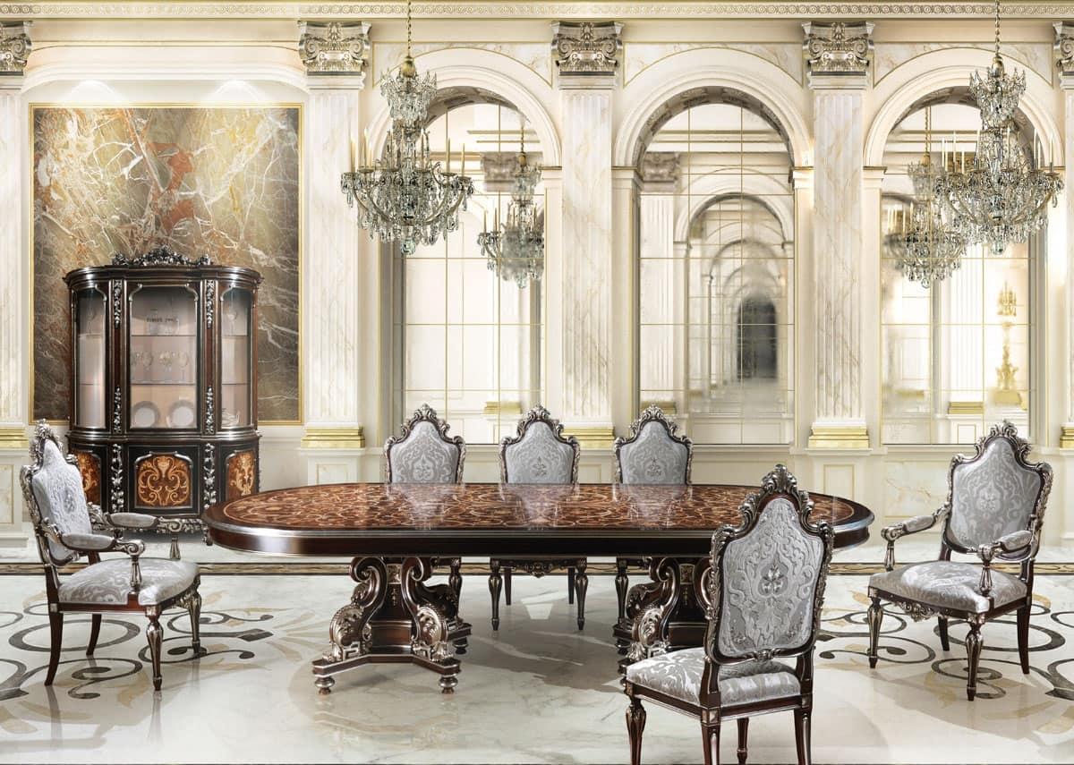 Tavoli Tavoli Classici Ed In Stile In Stile E Classici Di Lusso Tondi #8E613D 1200 855 Mobili Bianchi Sala Da Pranzo