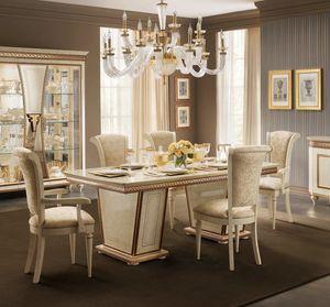 Fantasia tavolo rettangolare, Elegante tavolo da pranzo, allungabile