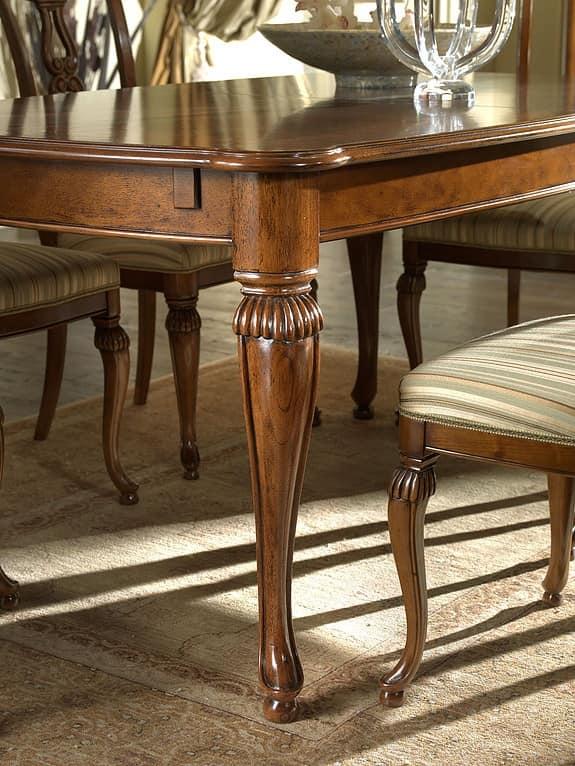 Tavolo quadrato allungabile in noce decori in acero for Immagini di tavoli