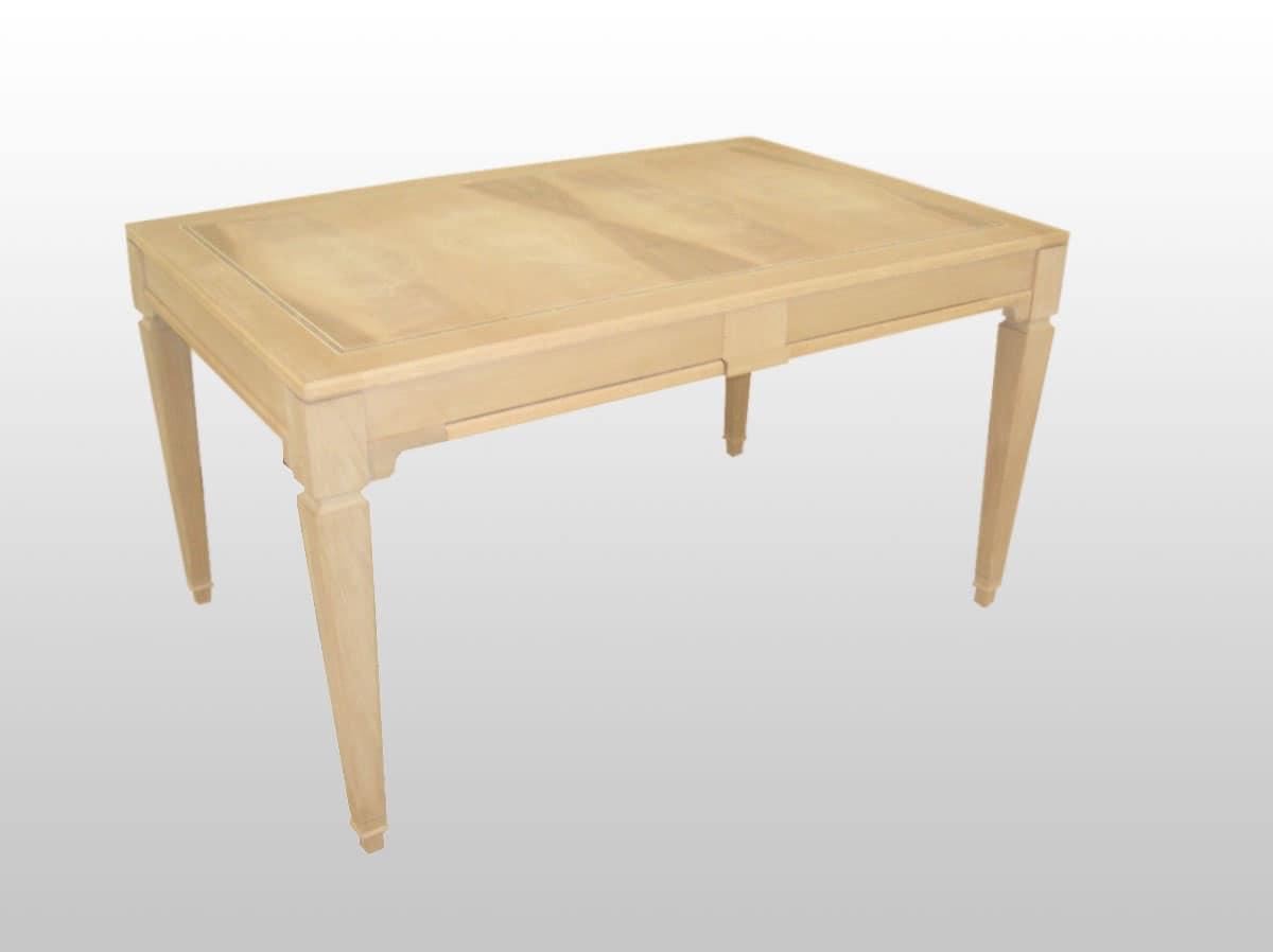 Tavolo estendibile in legno piano impiallacciato noce for Immagini di tavoli