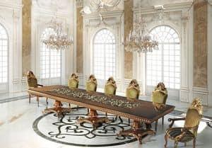 Hermitage ML/051/2, Tavolo lavorato a mano, stile classico di lusso