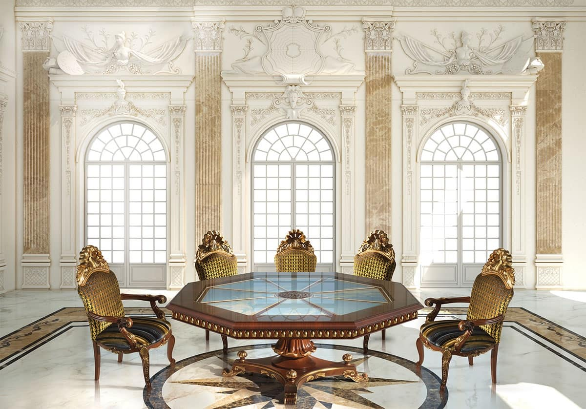 Tavolo ottagonale classico di lusso idfdesign for Immagini di tavoli
