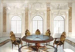 Hermitage ML/051/OT, Tavolo ottagonale classico di lusso